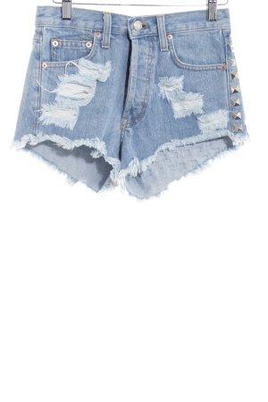 Runwaydreamz Shorts blu fiordaliso stile da moda di strada