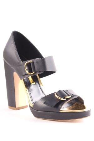 "Rupert Sanderson High Heel Sandal ""Yurla High Heel Platform Sandal Nero"""