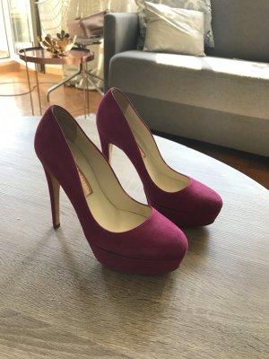 Rupert Sanderson Highheels Pink Wildleder Schuhe