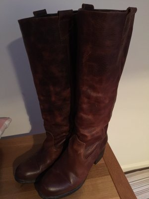 Wide Calf Boots cognac-coloured