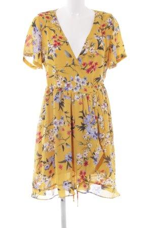 Rut & Circle Blusenkleid Blumenmuster Wickel-Look