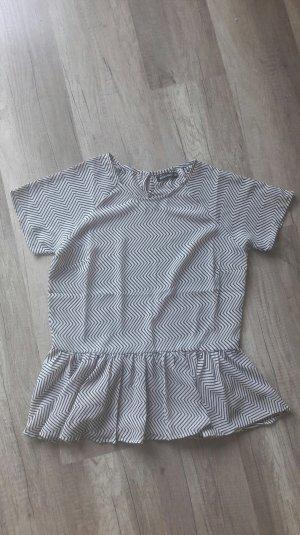 Rut & Circle Shirt Bluse Blusenshirt Pastel Geometrisch Volant Peplum 38