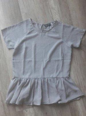 Rut&Circle Shirt Bluse Blusenshirt Volants Peplum Muster Rose