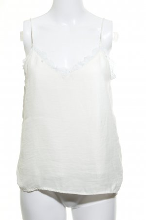 Rut & Circle Top di merletto beige chiaro stile semplice