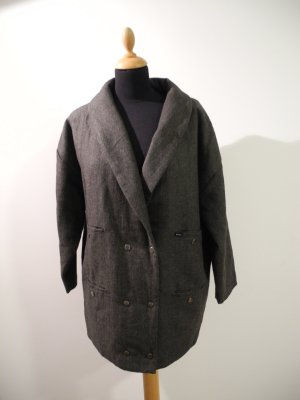 Rvca Boyfriend Blazer oversize Mantel Winter Druckknöpfe tweed Optik Anthrazit grau dunkelgrau anthra Übergang Wollmantel