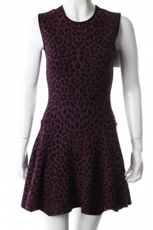 Knitted Dress black-purple