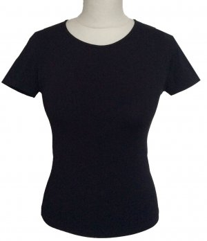 S 34 36 JOOP! shirt Pulli Stretch Elastan schwarz