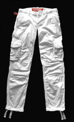 Superdry Pantalón de camuflaje blanco Algodón