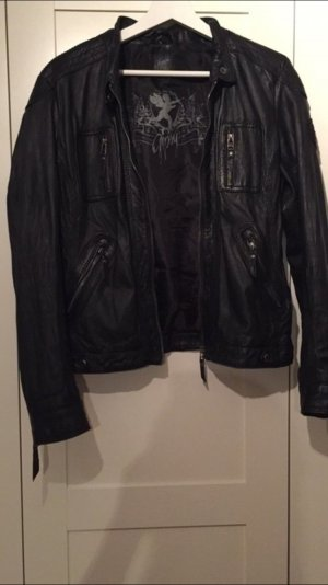 S A L E ! Gipsy Lederjacke schwarz Bikerlook hochwertig