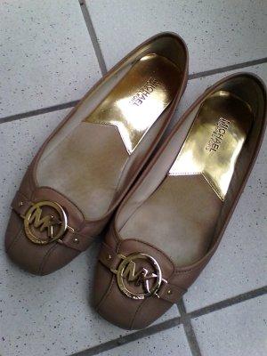S A L E  v.Die 25.04--Do26.04.17 Tolle  Michael Kors Ballerinas Beige gold