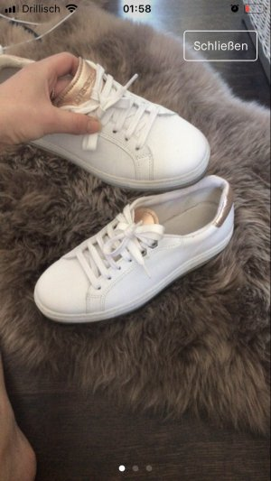Diesel High Top Sneaker white-pink leather