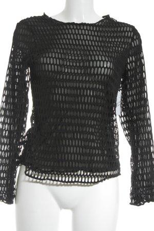 S.D.L Netzshirt schwarz Webmuster 90ies-Stil