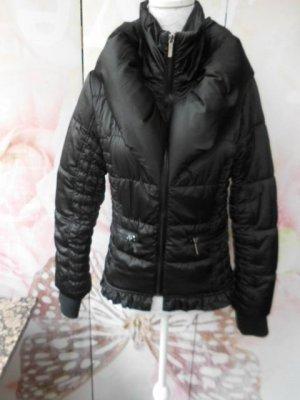 S / M  MORGAN schwarze Jacke mit Daunenkragen