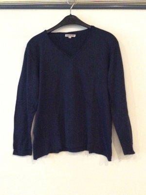 S.Malon Feinstrickpullover V Pullover Gr XL dunkelblau