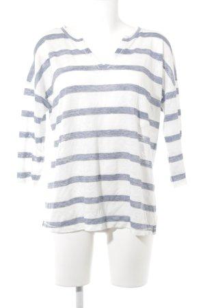 S.Marlon Longsleeve weiß-blau Streifenmuster Casual-Look