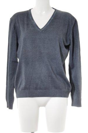 S.Marlon V-Ausschnitt-Pullover graublau meliert Casual-Look