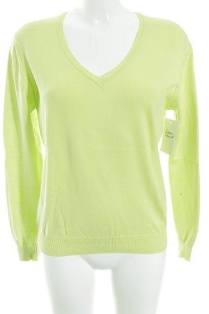 S.Marlon V-Ausschnitt-Pullover wiesengrün Casual-Look