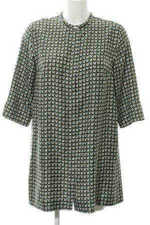 'S MaxMara Kurzarm-Bluse abstraktes Muster Casual-Look