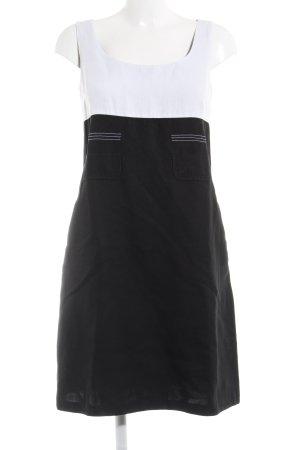 'S MaxMara Midikleid schwarz-weiß grafisches Muster Elegant