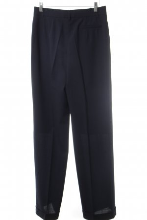 S. Milton Bundfaltenhose dunkelblau Business-Look