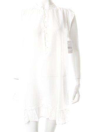S'nob Hemdblusenkleid weiß Transparenz-Optik