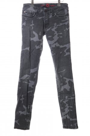 S.O.S by Orza Studio Slim Jeans hellgrau Camouflagemuster Casual-Look