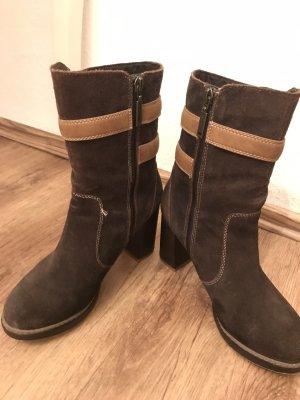 s.Oliver Halfhoge laarzen zwart bruin Leer