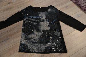 s.Oliver 3/4 Arm Shirt mit Pailletten-Druck in Gr.38/40