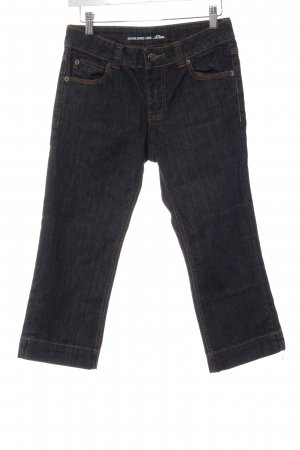 s.Oliver 3/4-jeans donkerblauw casual uitstraling
