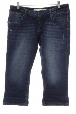 s.Oliver 3/4 Jeans dunkelblau Washed-Optik