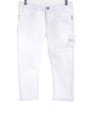 s.Oliver 3/4 Jeans weiß-silberfarben schlichter Stil
