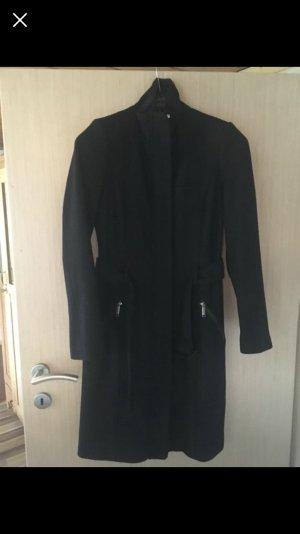 Sir Oliver Wollen jas zwart