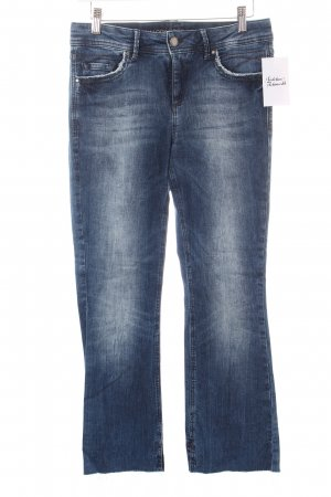 s.Oliver 7/8 Jeans blau Destroy-Optik