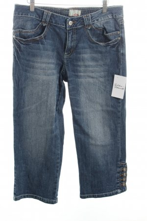 s.Oliver 7/8 Jeans blau-wollweiß Casual-Look