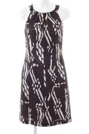 s.Oliver A-Linien Kleid schwarz-weiß grafisches Muster Casual-Look