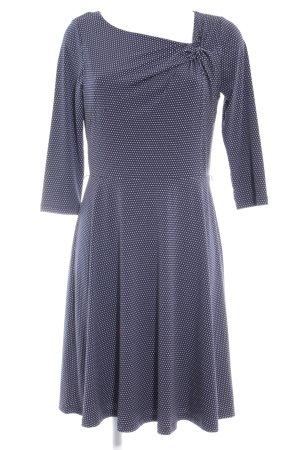 s.Oliver A-Linien Kleid blau-weiß Punktemuster Casual-Look