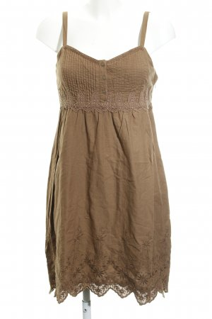 s.Oliver A Line Dress brown floral pattern Gypsy style