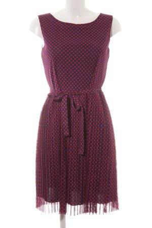 s.Oliver A-Linien Kleid dunkelblau-rot Karomuster Elegant