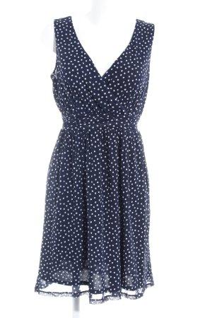 s.Oliver A-Linien Kleid dunkelblau-weiß Punktemuster Romantik-Look