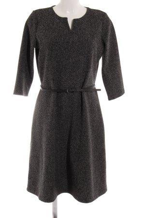 s.Oliver A-Linien Kleid schwarz-hellgrau meliert Business-Look