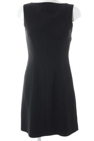 s.Oliver A-Linien Kleid schwarz-weiß Streifenmuster Business-Look