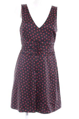 s.Oliver A-Linien Kleid schwarz-ziegelrot Punktemuster Elegant