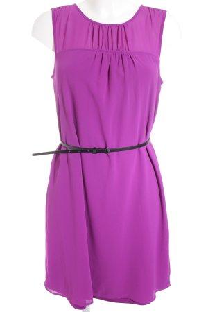 s.Oliver A-Linien Kleid violett-schwarz Elegant