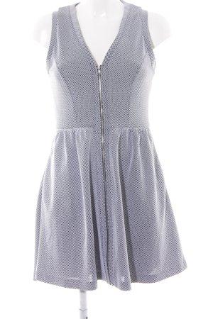 s.Oliver A-Linien Kleid weiß-schwarz Karomuster Casual-Look