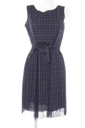 s.Oliver Abendkleid schwarz-dunkelblau abstraktes Muster Elegant