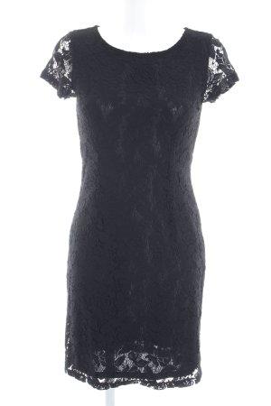 s.Oliver Abendkleid schwarz florales Muster Elegant