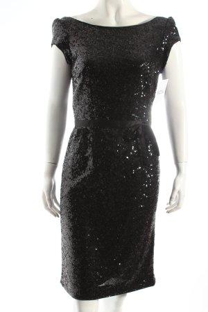 s.Oliver Abendkleid schwarz Glitzer-Optik