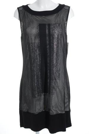 s.Oliver Abendkleid schwarz-weiß Lochstrickmuster Party-Look