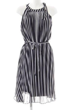 s.Oliver Abendkleid weiß-dunkelblau Streifenmuster Casual-Look