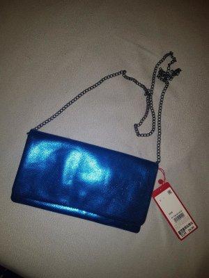 S. Oliver Abendtasche (auch als Clutch tragbar) blau - NEU!